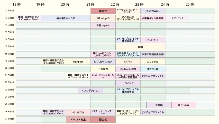 2018皐月祭ステージ